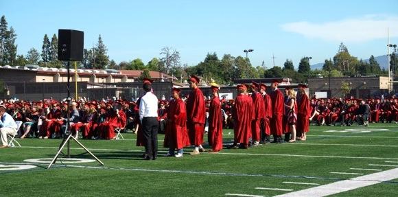 M-A grads line up