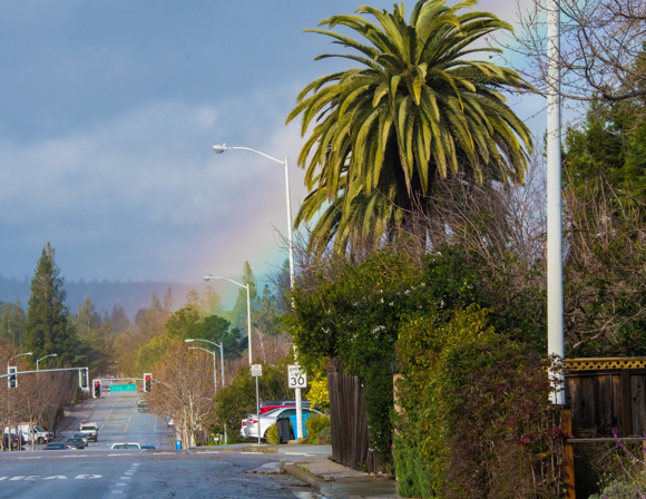rainbow on the Alameda - 1
