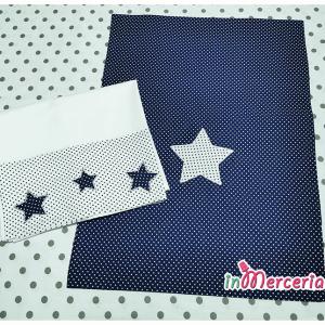 Set lenzuolino neonato pois con stelle