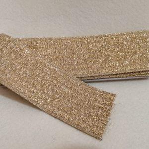 elastico rigato per cinture altezza 6 cm oro lurex