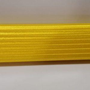 elastico rigato per cinture altezza 6 cm giallo