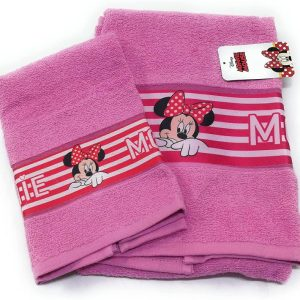 Coppia Asciugamani Minnie Disney