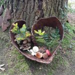 Kunst met materiaal uit het bos