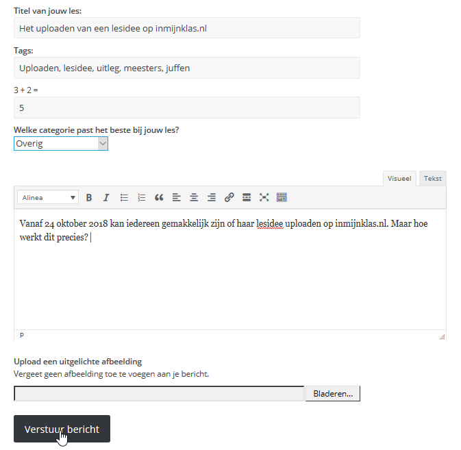 uitleg werking formulier