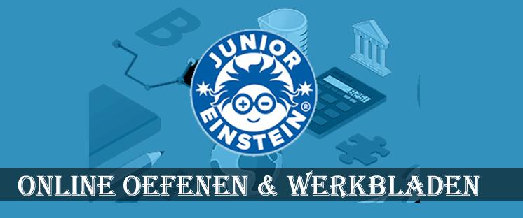 online oefenen en werkbladen met Junior Einstein