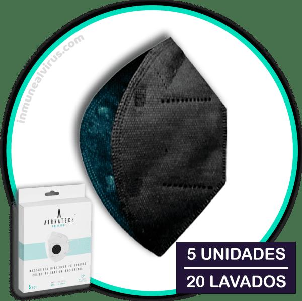 Mascarillas Airnatech Plus Negro - inmunealvirus