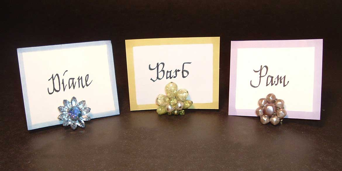 Simple Vintage Earring Place Card Holders In My Own Style