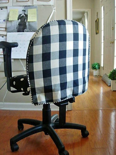 desk chair ikea folding office diy: makeover with fabric | in my own style