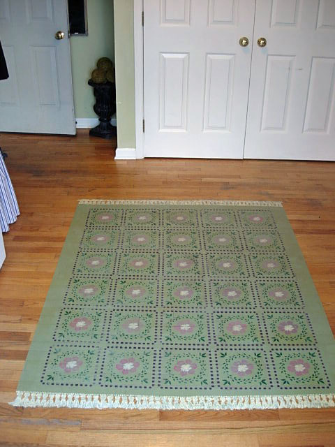 How To Paint a Rug on Your Floor  In My Own Style