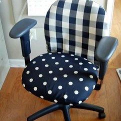 Desk Chair Cover Hickory Sleeper Sofas Diy Office Makeover With Fabric In My Own Style And Slipcovered