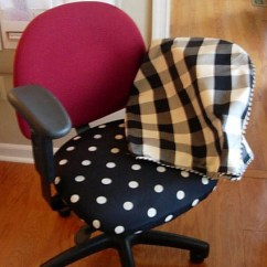 Simple Diy Chair Covers Basketball Bean Bag Office Makeover With Fabric In My Own Style