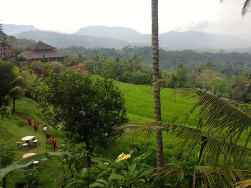 Even the view from the warung was spectacular