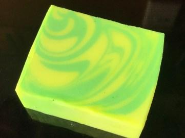 yellow green neon swirl