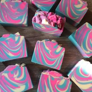 Neon swirl soap