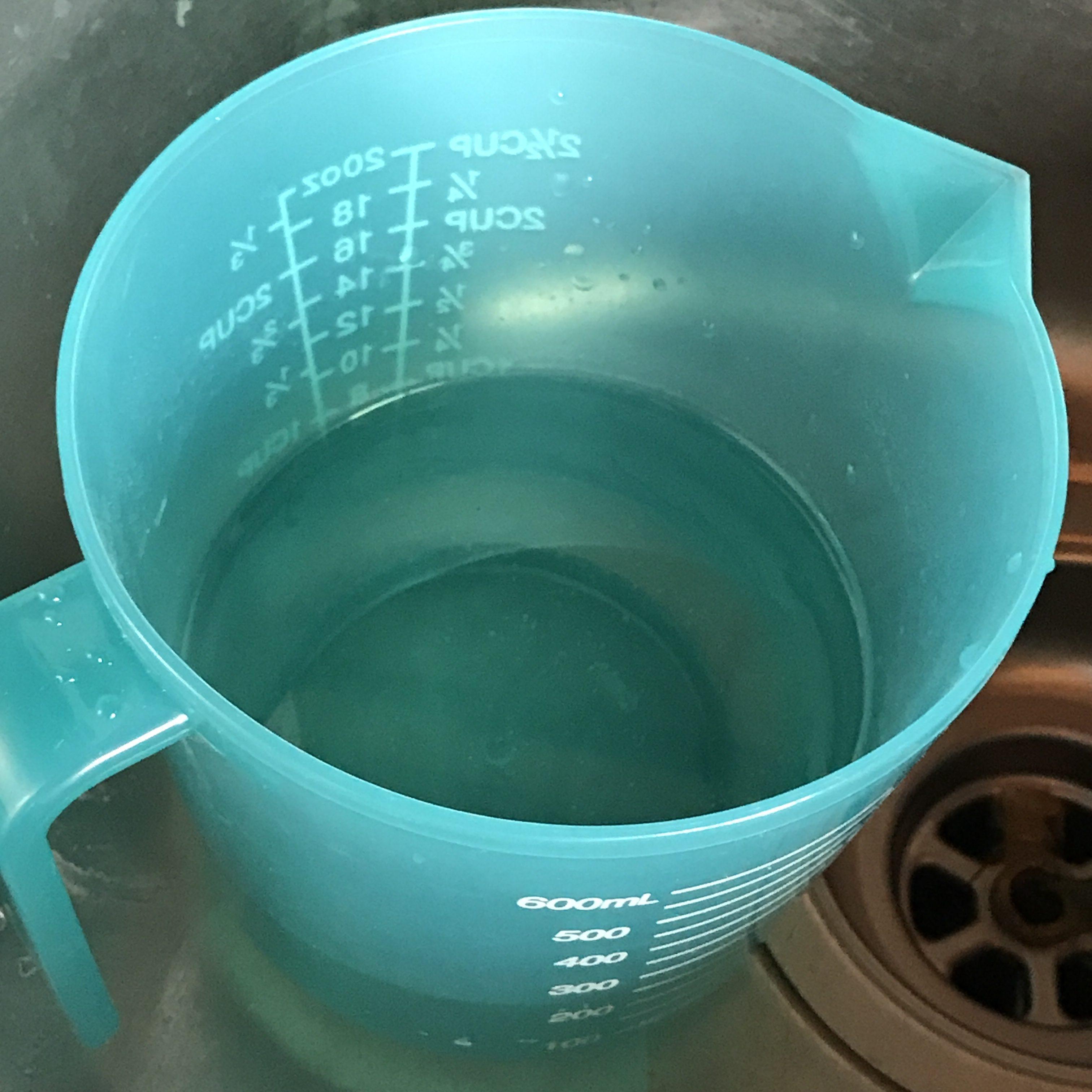 Lye solution in sink