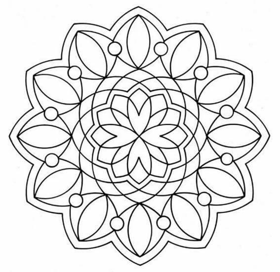 Imágenes de mandalas para imprimir :: Dibujos de mandalas
