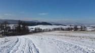 Góry Stołowe w tle