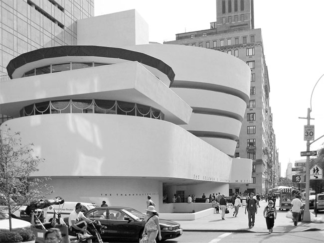 Guggenheim New York innenleben design blackandwhite architektur