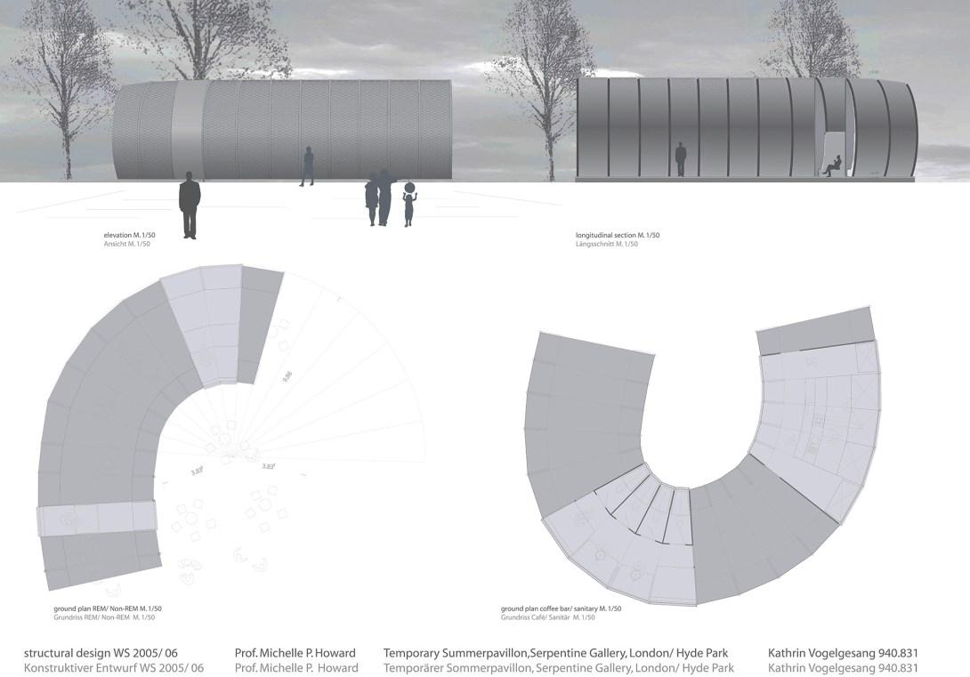 Plan3Serpentine Galleries Pavilion London Kensington Gardens Sections