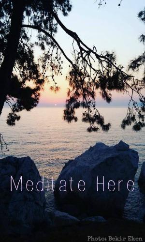 ttt edited meditate here sunset by bekir