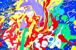 messy painting paint background why bright worth canvas lots fun child colors