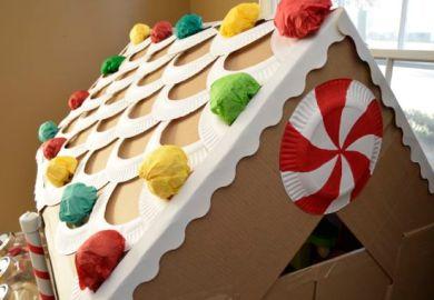 Cardboard Gingerbread House Life Size Inner Child Fun