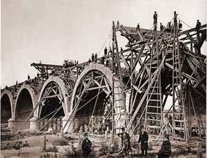Construction of the Franceses Bridge Spain