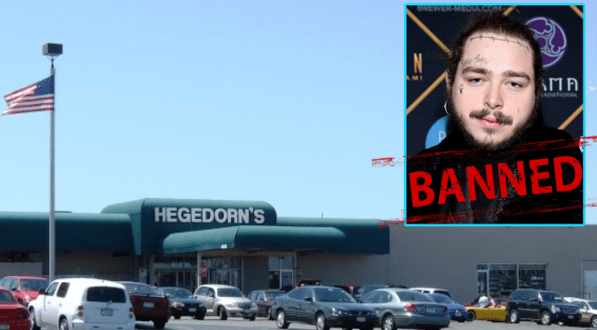 Webster Now Banning Post Malone After The Rapper Visited And Did Not Shop At Hegedorn's