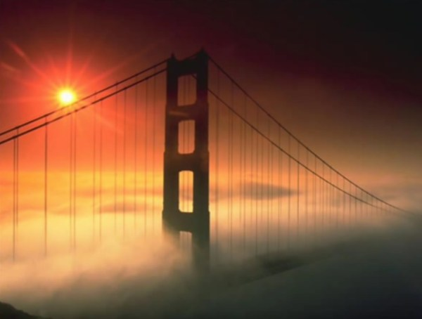 bridge over mist