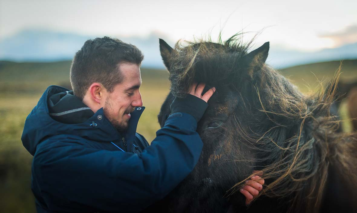 Icelandic Horse and Jellis Vaes - Feeling Empty and Bored with Life