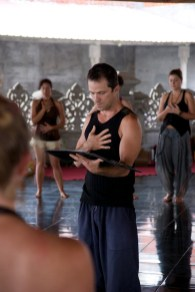 Acknowledging the direction of Within, Dancing Freedom Facilitator Training, Bali, 2014, RolfGibbs photo