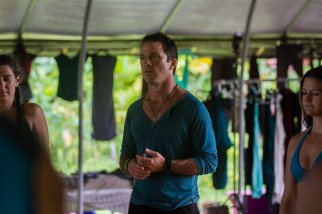 Hamid inviting people in, Ecstatic Dance Retreat, Big Island, Hawaii