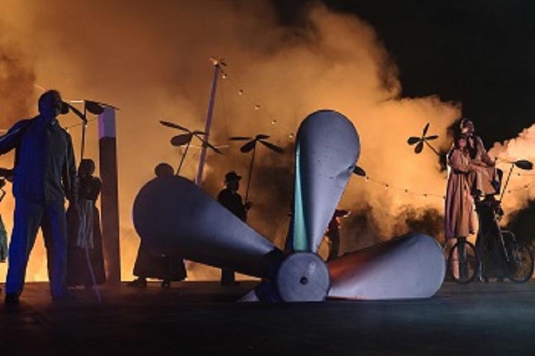 Das Luftschiff auf der Tribschenbühne an See