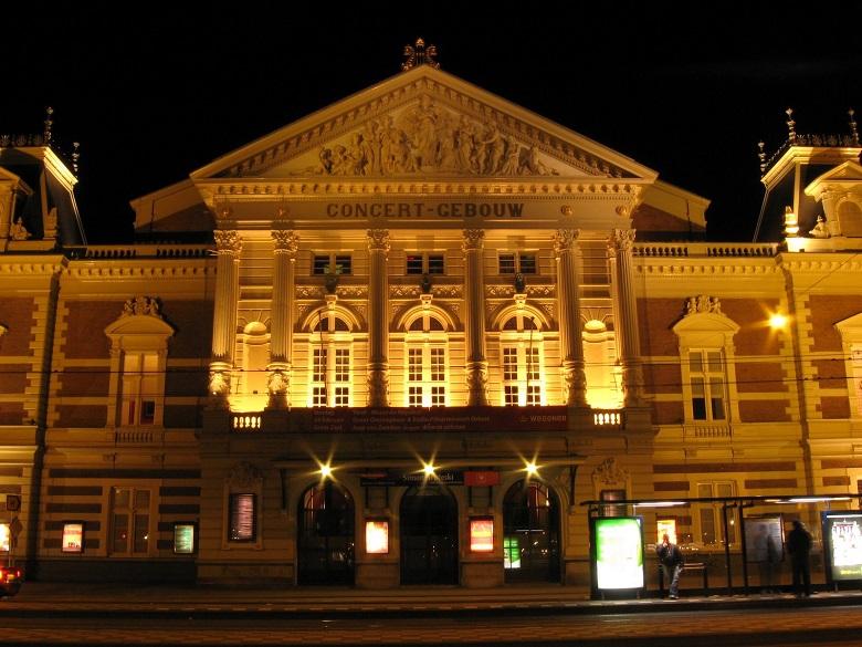 Concertgebouw, Amsterdam bei Nacht