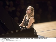 LUCERNE FESTIVAL AM PIANO: Rezital 3: Lise de la Salle interpretiert Werke von Brahms, Ravel und Debussy Luzern, den 25.11.2015 Copyright: LUCERNE FESTIVAL/ Priska Ketterer
