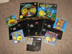 "Pacman Records and Picture Discs including a Square Picture Disc of ""Pacman Fever"""