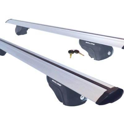 "Malone AirFlow2™ Roof Rack - Aero Crossbars - Raised, Factory Side Rails - Aluminum - 50"", 58"" and 65"""