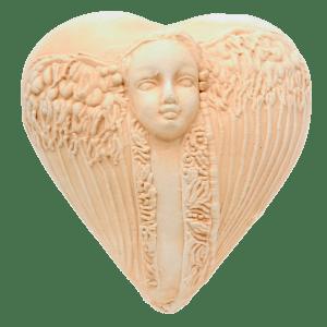 Earthenware Guardian Angel Heart Encourage Miracles