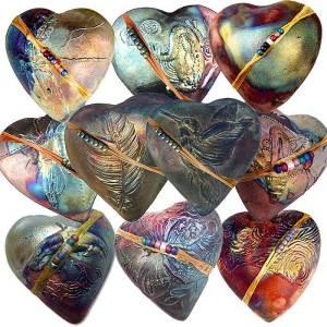 innerSpirit Rattles by J. Davis Studio heart mix