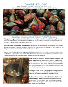 Raku is a celebration of our imperfections