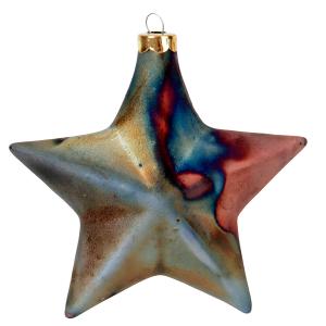 Smooth Star J Davis Studio Raku Ornaments 1
