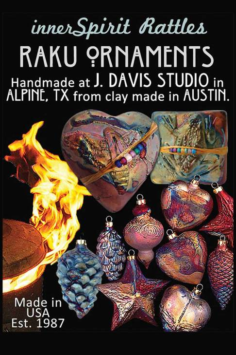 Firey-Raku-Ornaments by J. Davis Studio