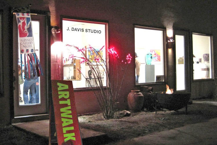 J. Davis Studio Artwalk Alpine, TX Gallery Night