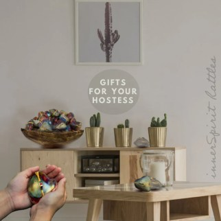 Calming living room with innerSpirit Rattles for hostess
