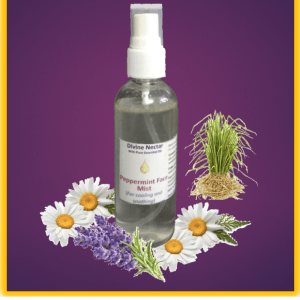 Cooling peppermint face & body mist