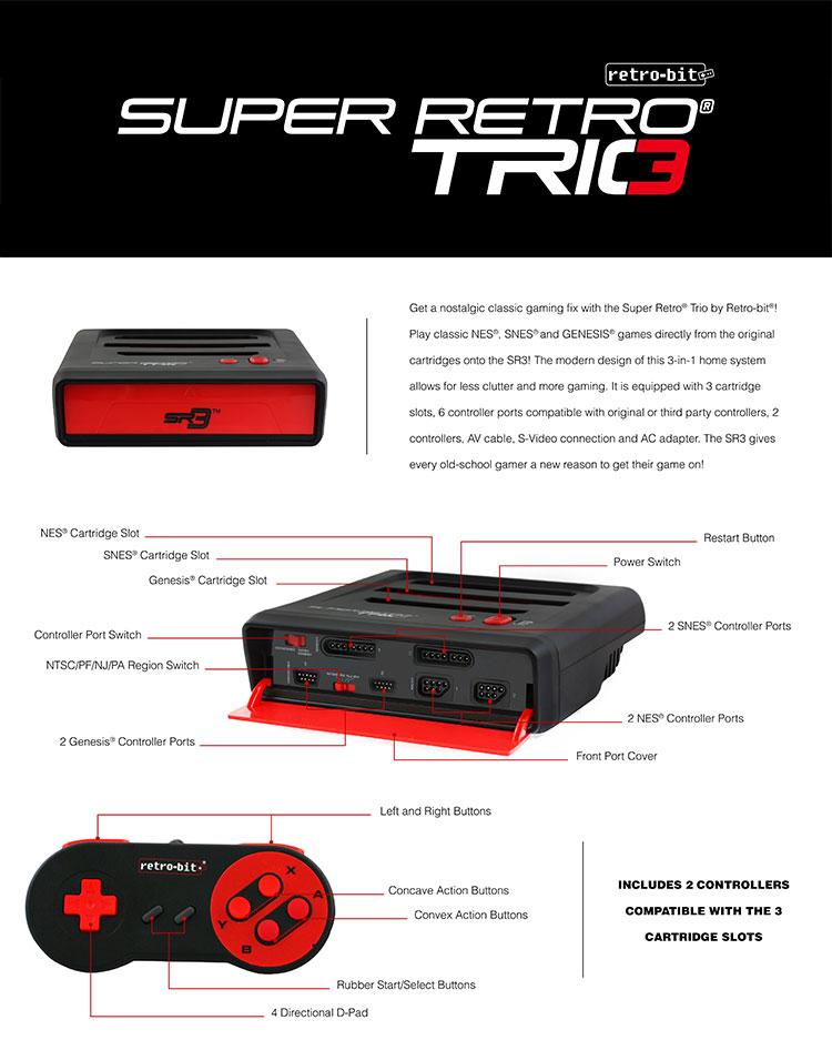 Super Retro Trio by Retro-Bit