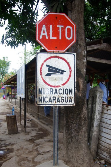 Checkpoint at the Nicaraguan Frontera