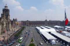 The Plaza de la Constitución, also knows as Zócalo. It is one of the biggest public squares in the world.