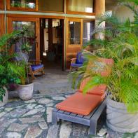Large private patio & garden area.
