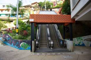 Outdoor Escalator: Communa 13, Medellin, Colombia